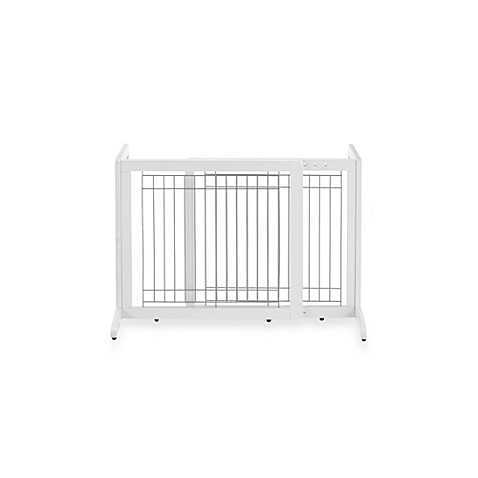 Richell Freestanding Origami Pet Gates In White Bed Bath