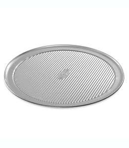 Charola antiadherente para pizza USA Pan®, de acero aluminizado 35.56 cm
