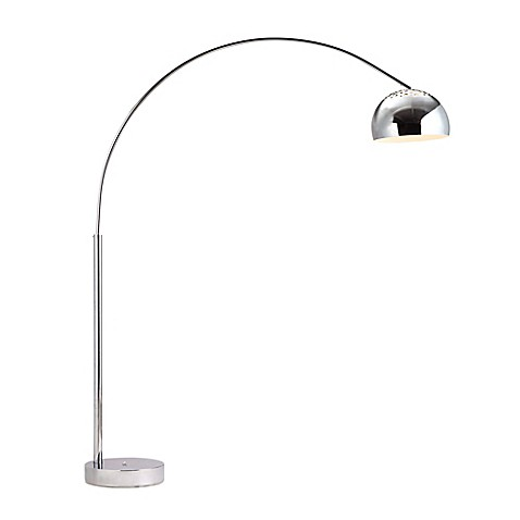 Zuo® Accents Galactic 1-Light Chrome Floor Lamp