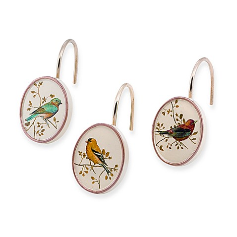 Curtains Ideas bird shower curtain hooks : Avanti Gilded Bird Shower Curtain Hooks (Set of 12) - Bed Bath ...