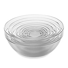 image of 10-Piece Tempered Glass Nesting Mixing and Prep Bowl Set