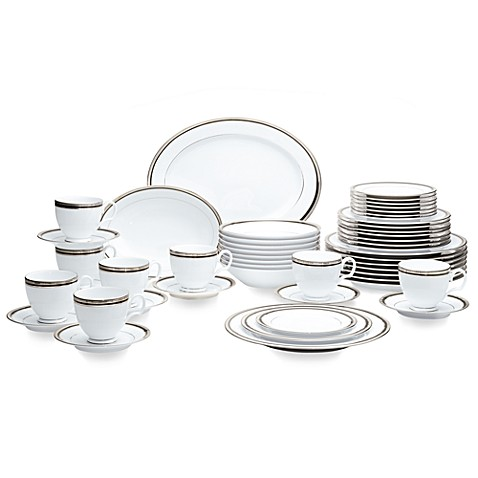 Noritakeu0026reg; Austin Platinum 50-Piece Dinnerware Set  sc 1 st  Bed Bath u0026 Beyond & Noritake® Austin Platinum 50-Piece Dinnerware Set - Bed Bath u0026 Beyond