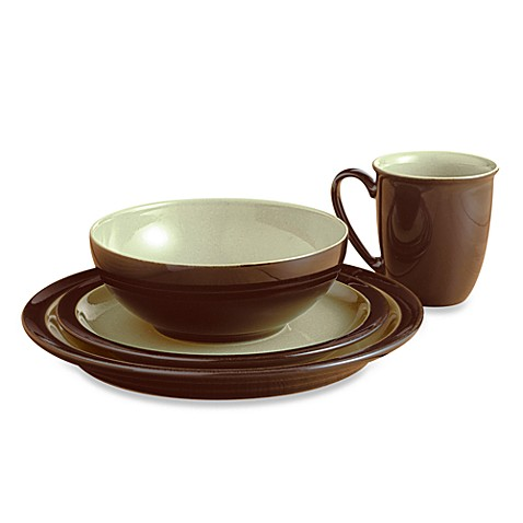 Denby Duets 4-Piece Place Setting in Chestnut/Apple