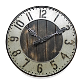 Metal Wall Clock rustic punched metal wall clock - bed bath & beyond