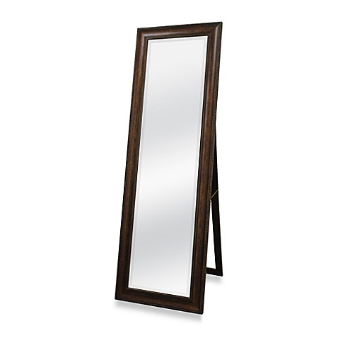 Golden bronze 20 inch x 60 inch floor mirror with easel for Long stand up mirror