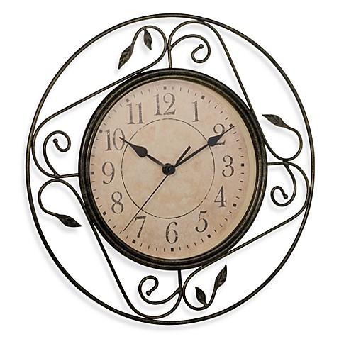 Geneva Wrought Iron Wall Clock Bedbathandbeyond Com