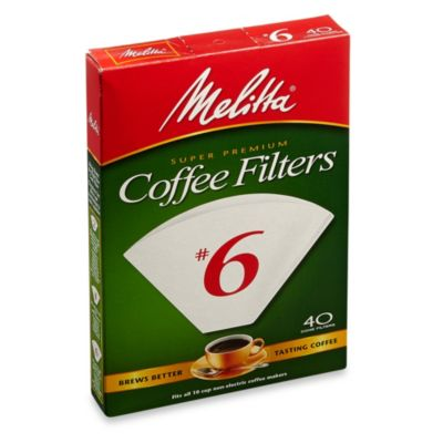 Melitta 40-Count Number 6 White Super Premium Coffee Filters - Bed Bath & Beyond