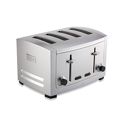 All Clad 4 Slice Die Cast Stainless Steel Toaster Bed Bath & Beyond
