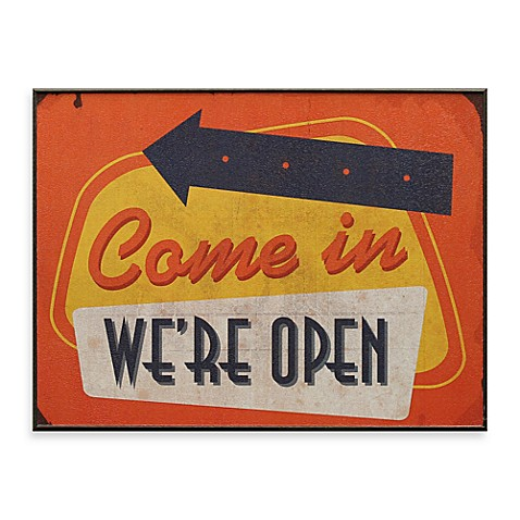 Come in We're Open 13-Inch x 17-Inch Wall Art
