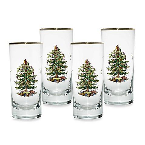 Spode® Christmas Tree Highball Glasses (Set of 4) - Bed Bath & Beyond
