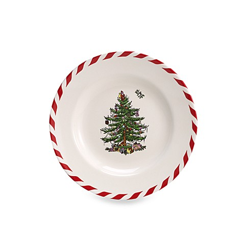 Spode Christmas Tree Peppermint Canape Plates Set Of 4 Bed Bath Beyond