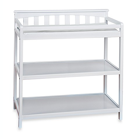Child Craftu0026trade; London Euro Flat Top Changing Table In Matte White