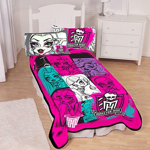 Mattel Monster High Twin Blanket, Monster High Bedding Twin