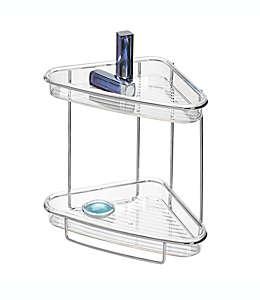 Estante esquinero iDesign® de 2 niveles en cromo