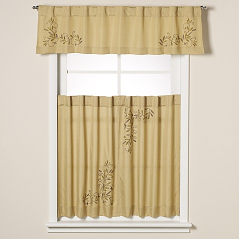 Scroll Leaf Window Curtain Valance in Sage