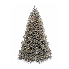 image of national tree company 75 foot downswept douglas fir pre lit christmas tree - Pre Lit Christmas Tree