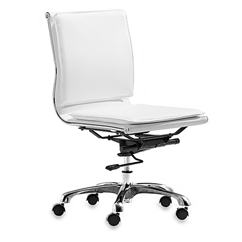Zuo® Modern Lider Plus White Armless Office Chair