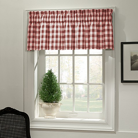 Classic Check Valance In Red Bed Bath Amp Beyond