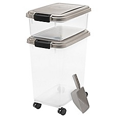 image of IRIS USA 3-Piece Airtight Pet Food Container Combo