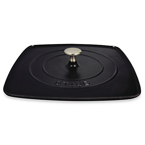 Staub Cast Iron 12-Inch Square Grill Press