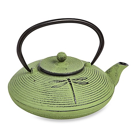 Buy tetsubin placidity 26 oz cast iron teapots with infuser in green from bed bath beyond - Japanese teapot with infuser ...