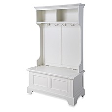 image of home styles naples hall tree and storage bench