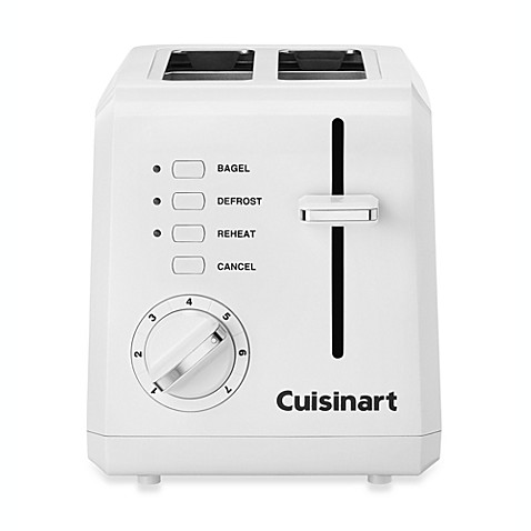 Cuisinart white compact cool touch 2 slice toaster bed - Cool touch exterior convection toaster oven ...