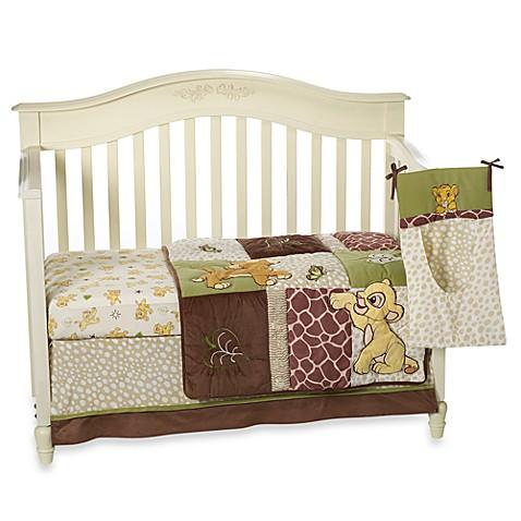 Disney baby lion king go wild 4 piece crib bedding set for Wild bedding