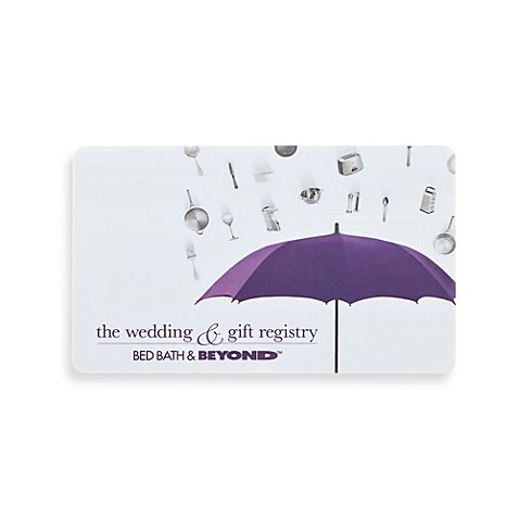 "... Wedding & Gift Registry"" Bridal Shower Gift Card - Bed Bath & Beyond"