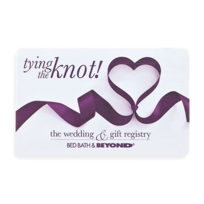 tying the knot Ribbon Heart Gift Card Bed Bath Beyond