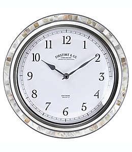 Reloj de plástico para pared FirsTime® Sophia con mosaicos color plata/perla