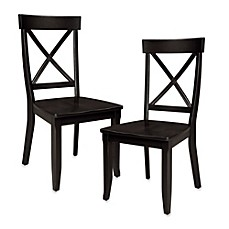 image of Home Styles Dining Chair in Black (Set of 2)