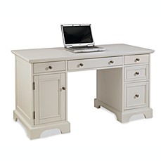 Home Styles Naples Pedestal Desk In White Finish