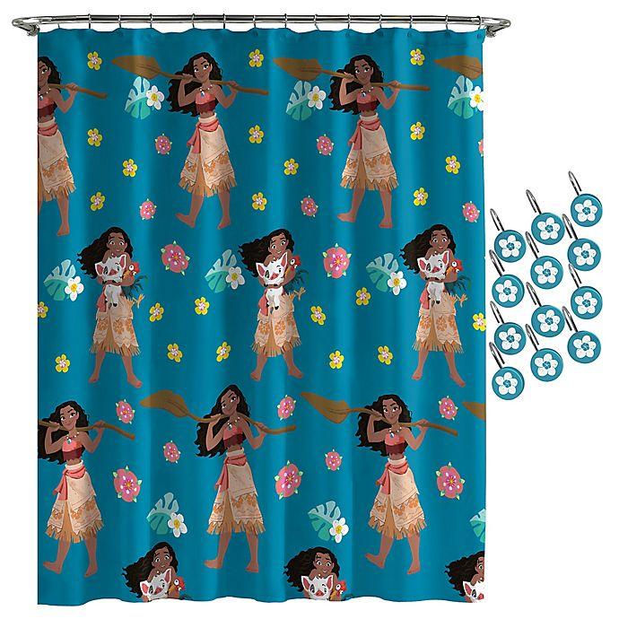 Disney Moana Flower Power Shower Curtain Bed Bath Beyond