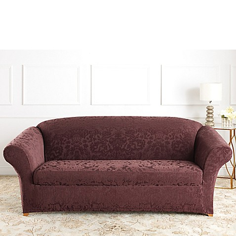 couch knitted single stretch furniture solid item sofa recliner cover fabric slipcovers chair slipcover thin