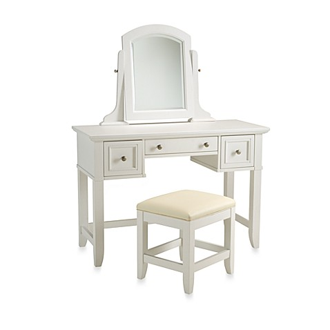 white and gold vanity table. image of Home Styles Naples White Vanity Set Sets  Benches Bed Bath Beyond