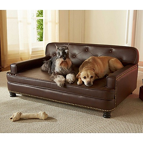 Enchanted Home Pet Library Pet Sofa In Brown Pebble Bed Bath Beyond