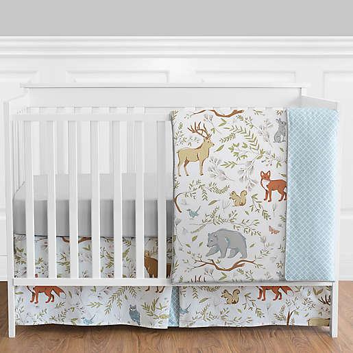 Sweet Jojo Designs Woodland Toile 4 Piece Crib Bedding Set Buybuy Baby