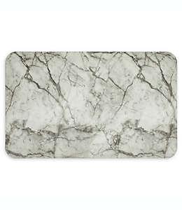 Tapete para cocina ultra acolchonado Mohawk Home® con diseño de mármol en gris/blanco