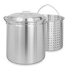 image of Bayou Classic® Aluminum Stock Pot with Basket and Vented Lid
