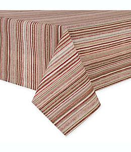 Mantel para mesa plastificado a rayas de 1.77 x 1.32 m