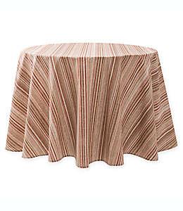 Mantel redondo para mesa plastificado a rayas