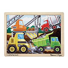 image of Melissa & Doug® Construction Site 12-Piece Jigsaw Puzzle