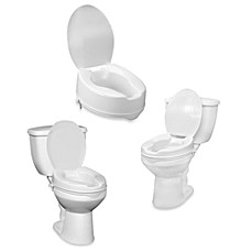 image of Drive Medical Raised Toilet Seat With Lid
