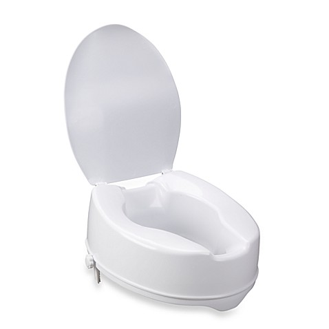 buy drive medical raised 6 toilet seat with lid from bed