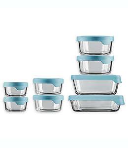 Anchor Hocking® TrueSeal™ Set de contenedores para alimentos en transparente/azul, 16 piezas