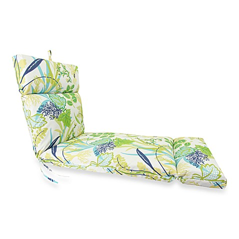 Outdoor chaise cushion in fishbowl bed bath beyond for Aquatouch 2 piece bath chaise