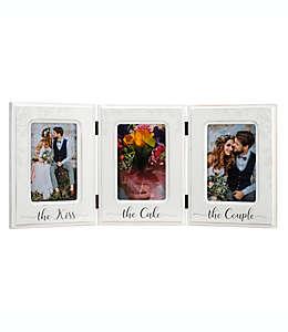 Portarretratos Malden® The Kiss The Cake The Couple para 3 fotos en blanco