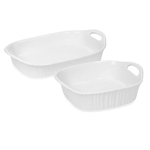 Corningware 174 French White 174 Iii Baking Dishes Bed Bath