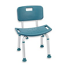 image of Drive Medical Bathroom Safety Shower Tub Bench Chair with Back in Teal